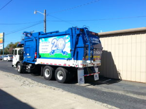 Garbage truck vehicle wraps charlotte