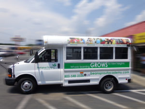 day care bus wrap charlotte