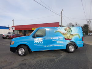 swimming pool vehicle wraps charlotte nc