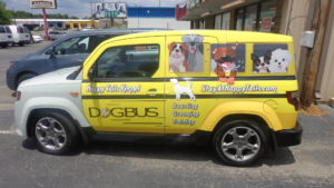 doggy day care vehicle wraps charlotte