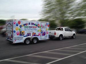 bouncy house vehicle wrap