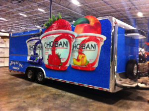 chobani vehicle wrap