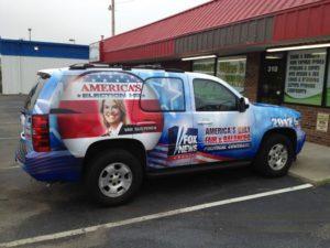 Fox News vehicle wraps charlotte nc