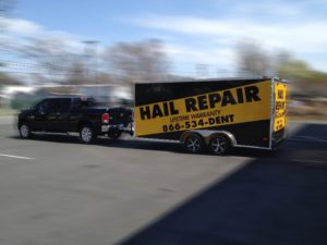 Hail Repair Trailer wraps charlotte nc