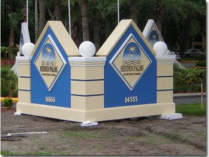 Traditional Foam Core Monument Signs - signs visual advertising